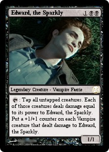 Twilight Edward Cullen Magic Card