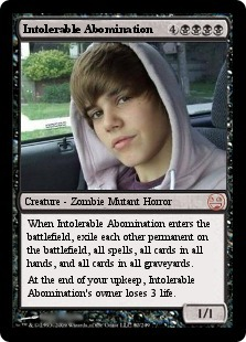 Justin Bieber Magic Card