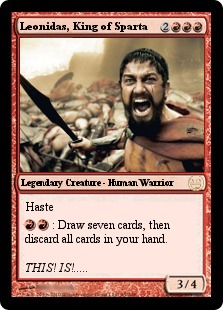 Leonidas Sparta Magic Card