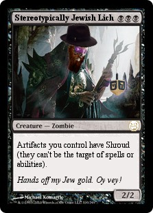 Jewish Lich Magic Card