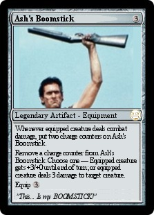 Ash's Boomstick Magic Card