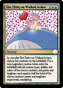 Pokemon Hot Skitty on Wailord Action Magic Card
