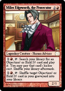 Miles Edgeworth Magic Card