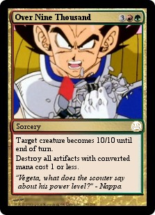 Dragonball Vegeta Over 9000 Magic card
